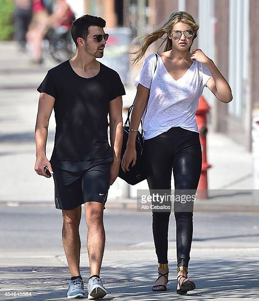 Joe Jonas and Gigi Hadid are seen in Soho on September 4 2014 in New York City