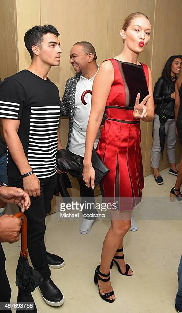 Joe Jonas and Gigi Hadid attend the Rihanna Party at The New York Edition on September 10 2015 in New York City