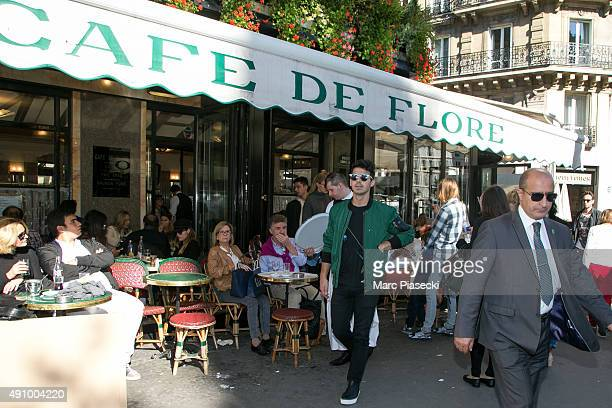Joe Jonas and Gigi Hadid leave the 'Cafe de Flore' restaurant on October 2 2015 in Paris France