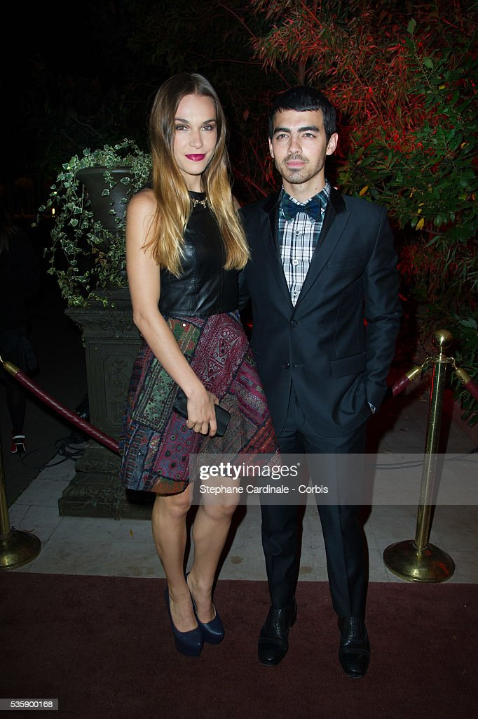Joe Jonas and guest attend the 'Mademoiselle C' Party at Pavillon Ledoyen, as part of the Paris Fashion Week Womenswear Spring/Summer 2014, in Paris.