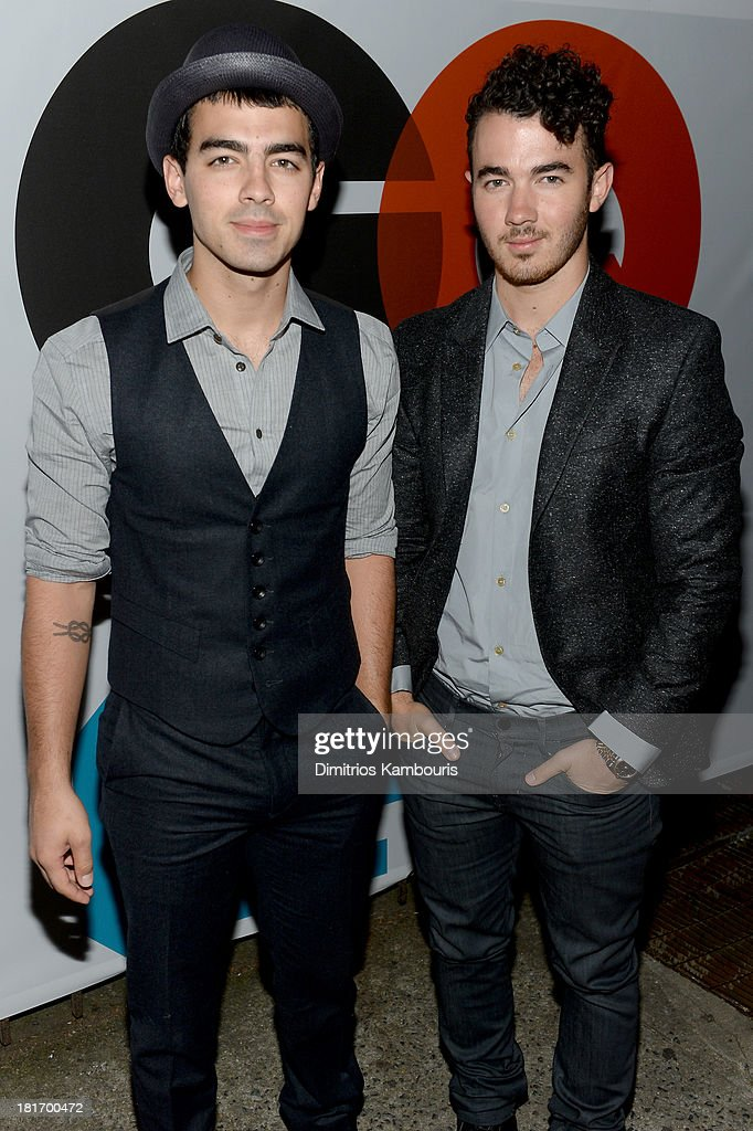 <a gi-track='captionPersonalityLinkClicked' href=/galleries/search?phrase=Joe+Jonas&family=editorial&specificpeople=842712 ng-click='$event.stopPropagation()'>Joe Jonas</a> and <a gi-track='captionPersonalityLinkClicked' href=/galleries/search?phrase=Kevin+Jonas&family=editorial&specificpeople=709547 ng-click='$event.stopPropagation()'>Kevin Jonas</a> attend the GQ & Gap event to celebrate 2013 Best New Menswear Designers Collaboration on September 23, 2013 in New York City.