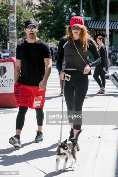 Joe Jonas and Sophie Turner are seen on September 8 2017 in New York City