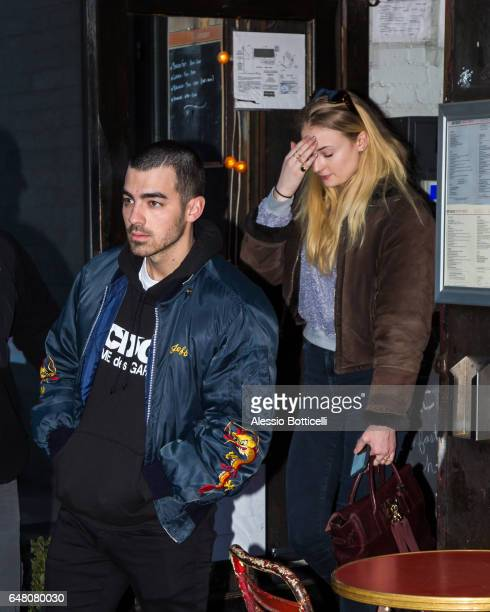 Joe Jonas and Sophie Turner are seen out and aout in SoHo on March 4 2017 in New York New York