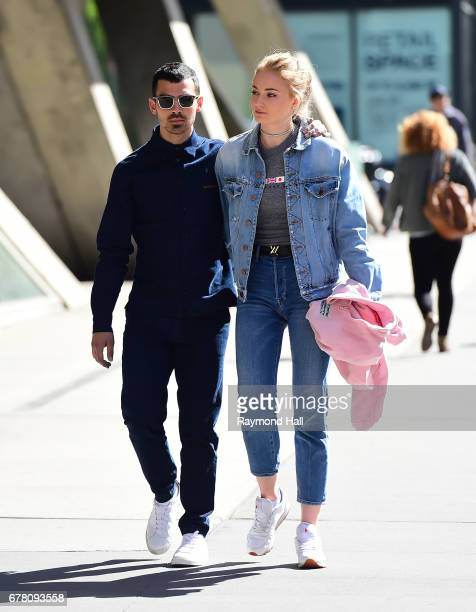 Joe Jonas and Sophie Turner are seen walking in Soho on May 3 2017 in New York City