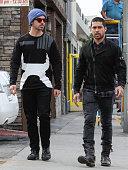Joe Jonas and Wilmer Valderrama are seen on January 11 2016 in Los Angeles California