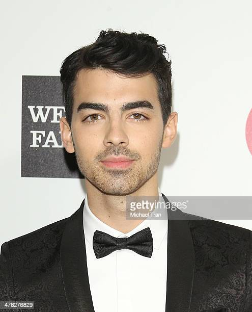 Joe Jonas arrives at the 22nd Annual Elton John AIDS Foundation's Oscar viewing party held on March 2 2014 in West Hollywood California