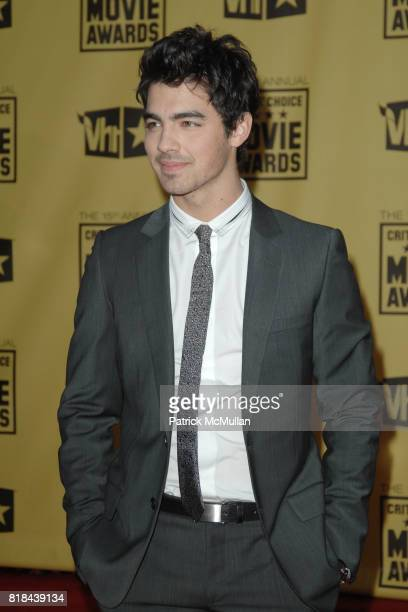 Joe Jonas attends 2010 Critics Choice Awards at The Palladium on January 15 2010 in Hollywood California