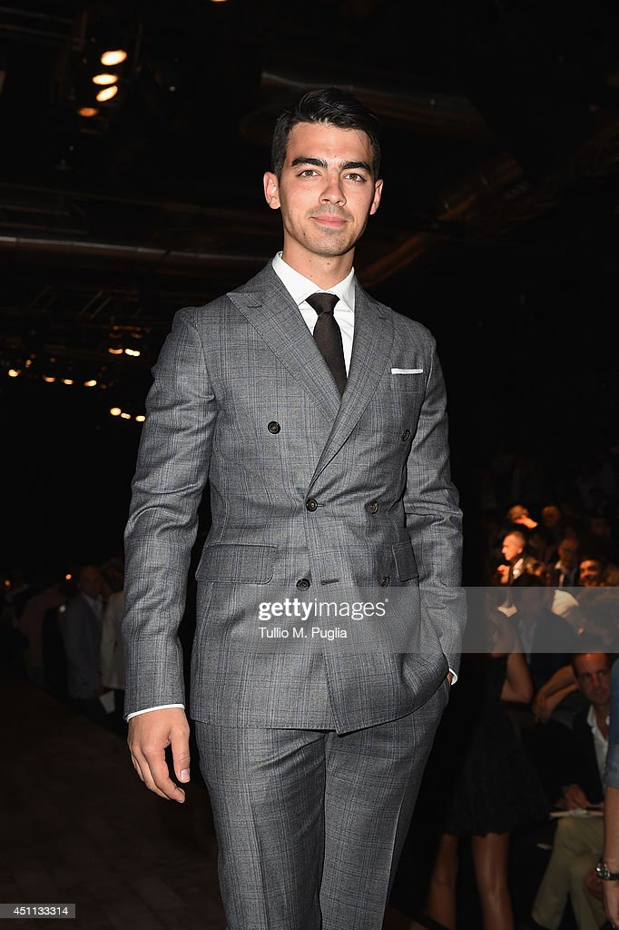<a gi-track='captionPersonalityLinkClicked' href=/galleries/search?phrase=Joe+Jonas&family=editorial&specificpeople=842712 ng-click='$event.stopPropagation()'>Joe Jonas</a> attends DSquared2 show during Milan Menswear Fashion Week Spring Summer 2015 on June 24, 2014 in Milan, Italy.