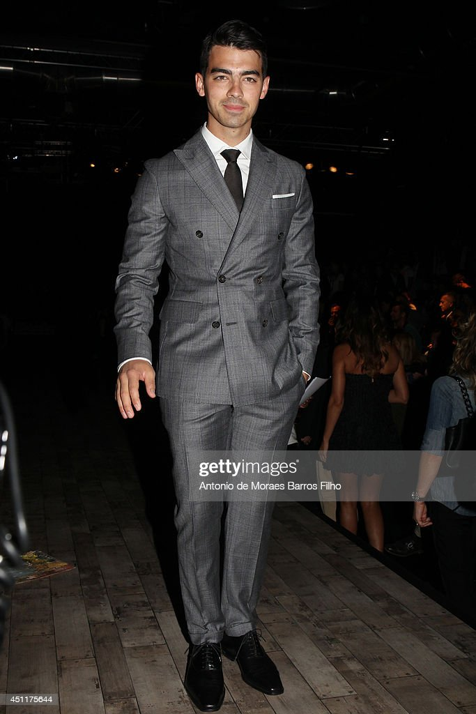 Joe Jonas attends the DSquared2 show as a part of Milan Fashion Week Menswear Spring/Summer 2015 on June 24, 2014 in Milan, Italy.
