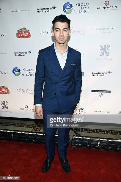 Joe Jonas attends the Global Lyme Alliance 'Uniting for a LymeFree World' Inaugural Gala at Cipriani 42nd Street on October 8 2015 in New York City