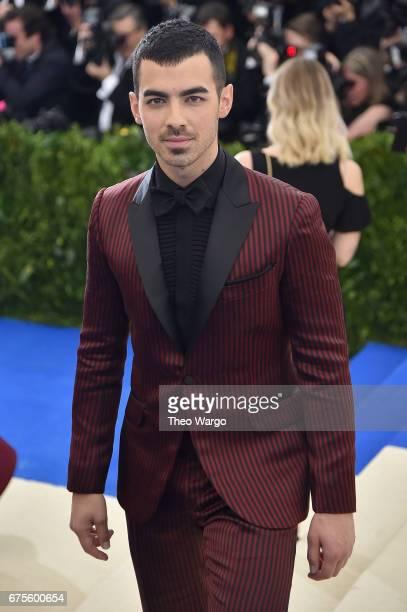 Joe Jonas attends the 'Rei Kawakubo/Comme des Garcons Art Of The InBetween' Costume Institute Gala at Metropolitan Museum of Art on May 1 2017 in New...