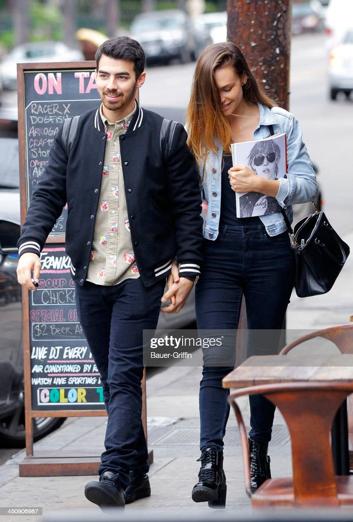 <a gi-track='captionPersonalityLinkClicked' href=/galleries/search?phrase=Joe+Jonas&family=editorial&specificpeople=842712 ng-click='$event.stopPropagation()'>Joe Jonas</a> Blanda Eggenschwiler are seen going out for lunch on November 20, 2013 in Los Angeles, California.