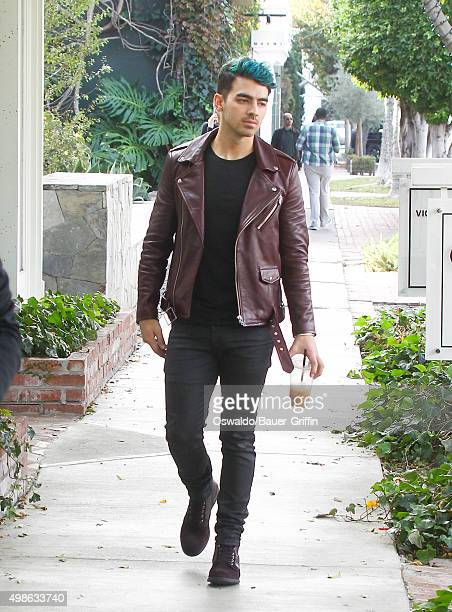 Joe Jonas is seen on November 24 2015 in Los Angeles California