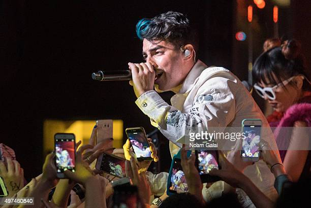 Joe Jonas of DNCE performs at the DNCE concert on November 16 2015 in New York City