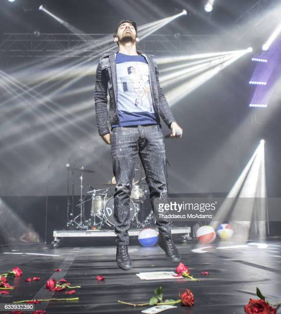 Joe Jonas of DNCE performs onstage at Smart Financial Centre on February 4 2017 in Sugar Land Texas