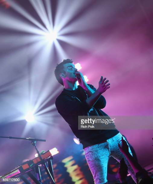 Joe Jonas of DNCE performs onstage during MTV Taco Bell present 'Best New Artist' Night for 'VMA Weekend' at Avalon on August 26 2017 in Hollywood...
