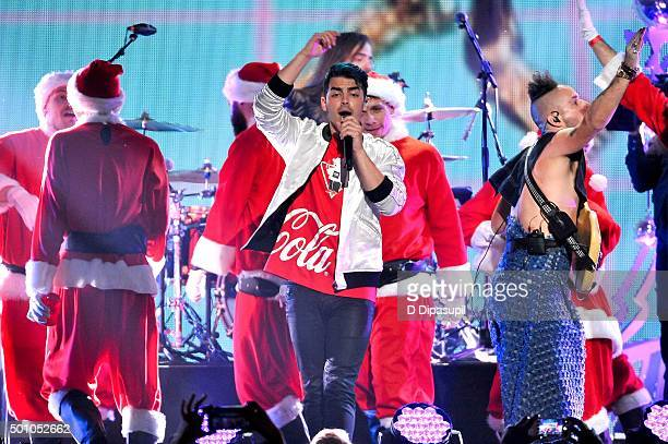 Joe Jonas of DNCE performs onstage during Z100's iHeartRadio Jingle Ball 2015 at Madison Square Garden on December 11 2015 in New York City