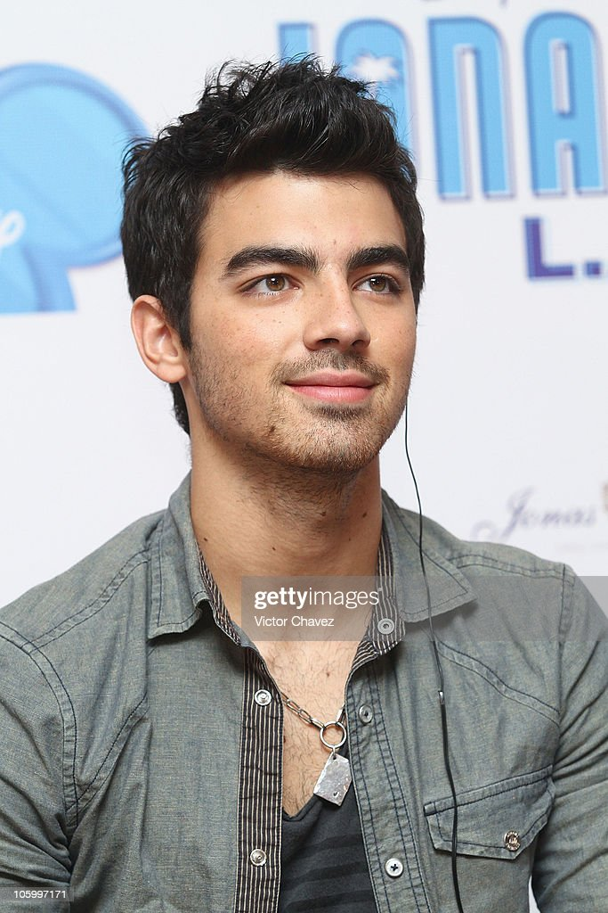 Joe Jonas of The Jonas Brothers attends a press conference to promote the Jonas Brothers concert at Foro Sol and the movie 'Camp Rock 2 The Final...