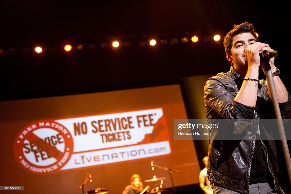 Joe Jonas of the Jonas Brothers perform for the Live Nation NSF Event at the Warner Theatre on June 2, 2010 in Washington, DC.
