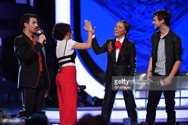 Joe Jonas or DNCE Alessia Cara Kat Graham and Brandon Flynn present at the 2017 iHeartRADIO MuchMusic Video Awards at MuchMusic HQ on June 18 2017 in...