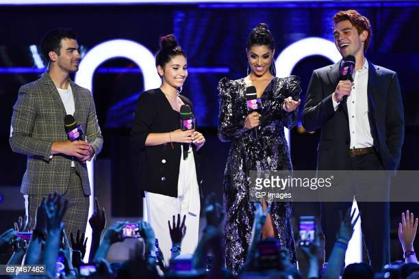 Joe Jonas or DNCE Alessia Cara Lilly Singh and KJ Apa at the 2017 iHeartRADIO MuchMusic Video Awards at MuchMusic HQ on June 18 2017 in Toronto...