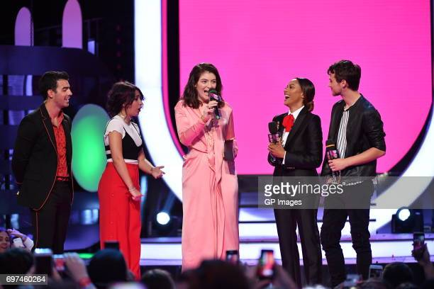 Joe Jonas or DNCE Alessia Cara Lorde Kat Graham and Brandon Flynn at the 2017 iHeartRADIO MuchMusic Video Awards at MuchMusic HQ on June 18 2017 in...
