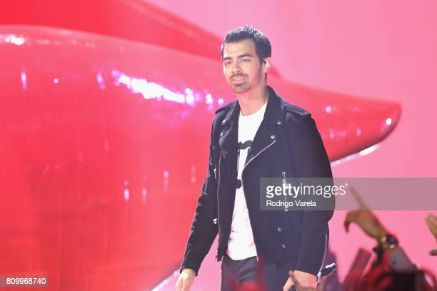 Joe Jonas perfoms on stage during Univision's 'Premios Juventud' 2017 Celebrates The Hottest Musical Artists And Young Latinos ChangeMakers at Watsco...