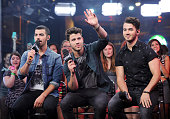 Joe JonasNick Jonas andKevin Jonas of the Jonas Brothers Live at Much at MuchMusic Headquarters on July 17 2013 in Toronto Canada