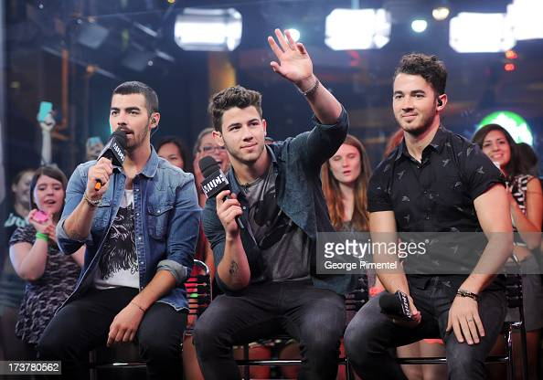 Joe JonasNick Jonas andKevin Jonas of the Jonas Brothers Live at Much at MuchMusic Headquarters on July 17 2013 in Toronto Canada