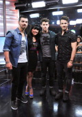 Joe JonasNick Jonas andKevin Jonas of the Jonas Brothersand Host Lauren Toyota Live at Much at MuchMusic Headquarters on July 17 2013 in Toronto...