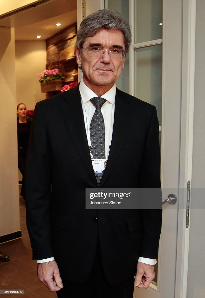 <a gi-track='captionPersonalityLinkClicked' href=/galleries/search?phrase=Joe+Kaeser&family=editorial&specificpeople=558326 ng-click='$event.stopPropagation()'>Joe Kaeser</a> (Siemens) attends a dinner reception at the Kaefer restaurant that coincides with the Munich Security Conference on February 6, 2015 in Munich, Germany. The 51st Munich Security Conference (MSC) is taking place from February 6-8.