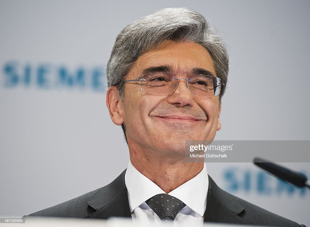 Joe Kaeser, CEO of German engineering giant Siemens AG looks on during Siemens annual press conference on November 7, 2013 in Berlin, Germany. German engineering giant Siemens said Thursday it expects to book a further increase in bottom-line earnings in 2014 after achieving its targets this year.