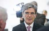 Joe Kaeser CEO of Siemens AG attends the Company's Press And Analyst Conference on May 07 2014 in Berlin Germany Kaeser announced a major...