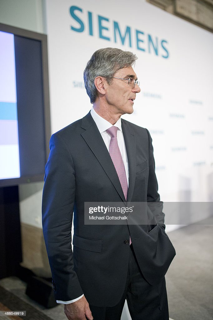 <a gi-track='captionPersonalityLinkClicked' href=/galleries/search?phrase=Joe+Kaeser&family=editorial&specificpeople=558326 ng-click='$event.stopPropagation()'>Joe Kaeser</a>, CEO of Siemens AG, attends the Company's Press And Analyst Conference on May 07, 2014 in Berlin, Germany. Kaeser announced a major restructuring of Siemens coupled with a growing focus on the energy sector.