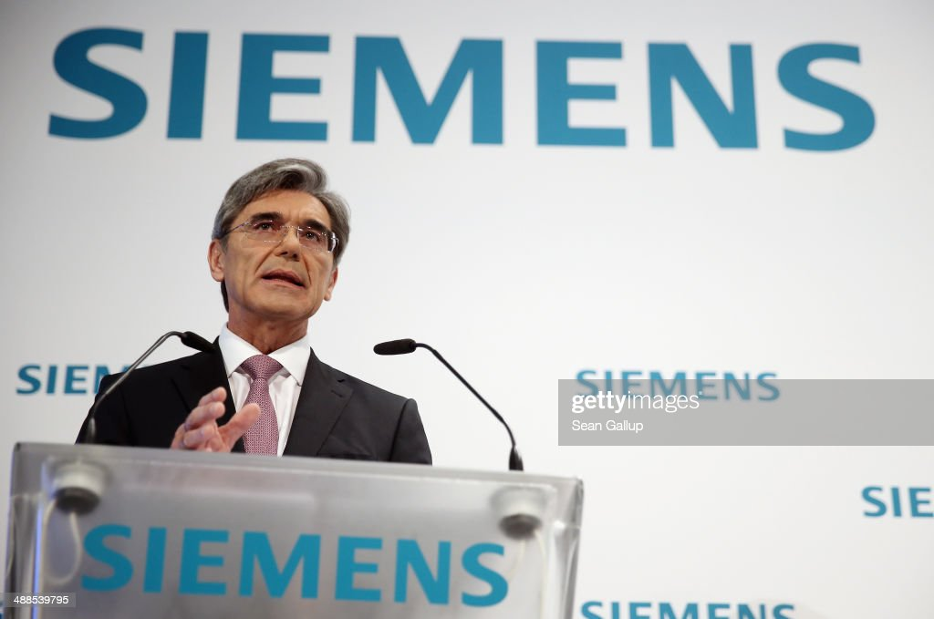 <a gi-track='captionPersonalityLinkClicked' href=/galleries/search?phrase=Joe+Kaeser&family=editorial&specificpeople=558326 ng-click='$event.stopPropagation()'>Joe Kaeser</a>, CEO of Siemens AG, speaks to journalists and analysts at the company's 2nd quarter press conference on May 7, 2014 in Berlin, Germany. Kaeser announced a major restructuring of Siemens coupled with a growing focus on the energy sector.