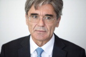 Joe Kaeser chief executive officer of Siemens AG pauses during an interview in Frankfurt Germany on Wednesday July 2 2014 Siemens AG Europe's largest...