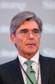 Joe Kaeser chief executive officer of Siemens AG pauses during the Sueddeutsche Zeitung Economic Forum in Berlin Germany on Friday Nov 22 2013 German...