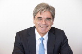 Joe Kaeser chief executive officer of Siemens AG reacts as he speaks during an interview in Frankfurt Germany on Wednesday July 2 2014 Siemens AG...