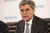Joe Kaeser chief executive officer of Siemens AG speaks during a news conference to announce the company's full year earnings in Munich Germany on...
