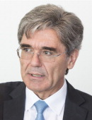 Joe Kaeser chief executive officer of Siemens AG speaks during an interview in Frankfurt Germany on Wednesday July 2 2014 Siemens AG Europe's largest...
