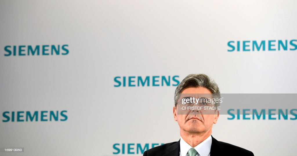 Joe Kaeser, member of the Managing Board and Head of Corporate Finance and Controlling attends a press conference ahead of the company's shareholders meeting on January 23 , 2013 in Munich, southern Germany. Siemens said on January 23, 2013 that earnings and orders fell in the first quarter, but it was hoping a shake-up of its businesses would nevertheless enable it to meet its full-year targets.