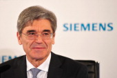 Joe Kaeser President and Chief Executive Officer of Siemens AG addresses a press conference prior to the Siemens annual general shareholders' meeting...