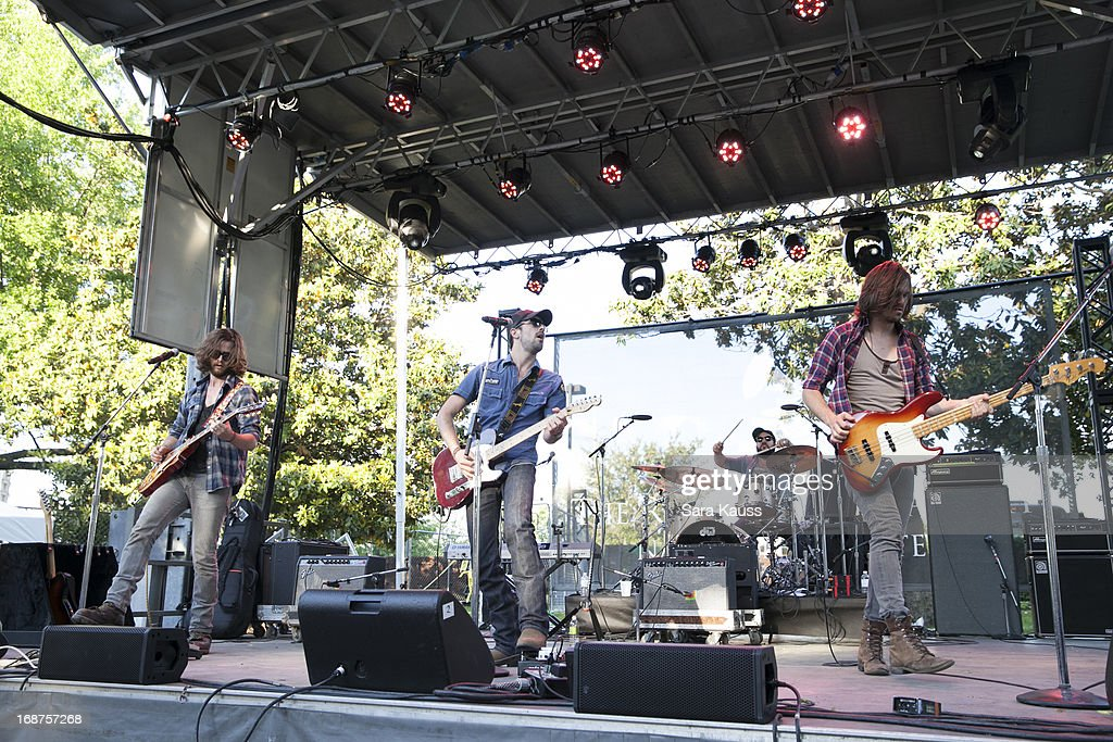 Joe Kane Rhett Walker and Kevin Whitsett perform at the GRAMMY Block Party at Owen Bradley Park on May 14 2013 in Nashville Tennessee