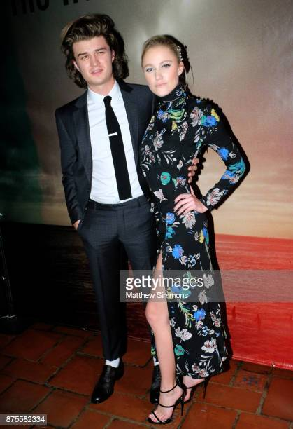 Joe Keery and Maika Monroe at the premiere of IFC Films' 'The Tribes Of Palos Verdes' at The Theatre at Ace Hotel on November 17 2017 in Los Angeles...