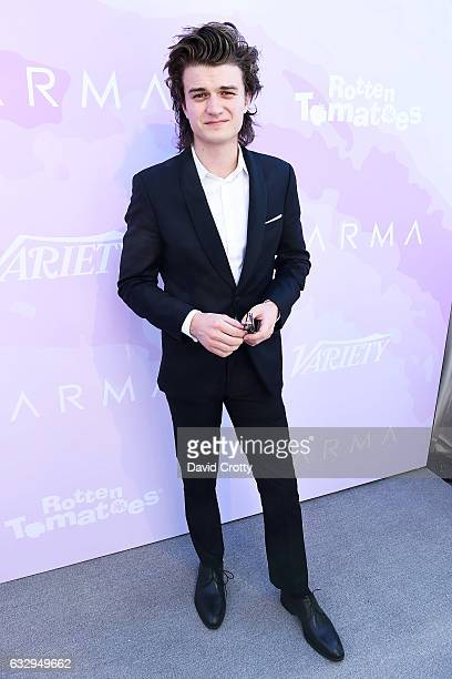 Joe Keery arrives at Variety's Celebratory Brunch Event For Awards Nominees Benefiting Motion Picture Television Fund at Cecconi's on January 28 2017...