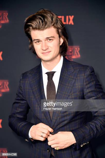 Joe Keery attends the premiere of Netflix's 'Stranger Things' Season 2 at Regency Bruin Theatre on October 26 2017 in Los Angeles California