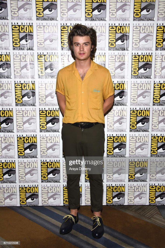 Joe Keery attends the 'Stranger Things' press conference at Comic-Con International 2017 on July 22, 2017 in San Diego, California.
