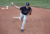 Joe Kelly of the Boston Red Sox delivers a pitch in the first inning during MLB game action against the Toronto Blue Jays on May 27 2016 at Rogers...