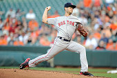Joe Kelly of the Boston Red Sox pitches against the Baltimore Orioles at Oriole Park at Camden Yards on June 1 2016 in Baltimore Maryland