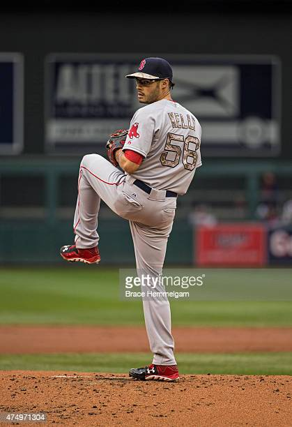 Joe Kelly of the Boston Red Sox pitches against the Minnesota Twins on May 25 2015 at Target Field in Minneapolis Minnesota The Twins defeated the...